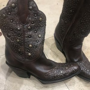 Corral studded calf boots